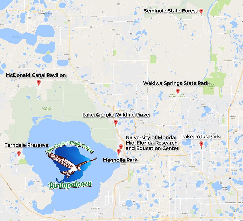 Locations  Lodging - Florida map mount dora